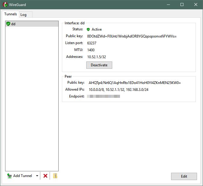 Wireguard Log File